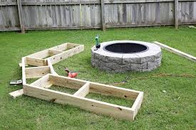 How To Make A Fire Pit In Backyard by Build Your Own Curved Fire Pit Bench U2013 A Beautiful Mess