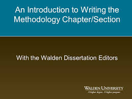 Methodology For those writing a dissertation  this will be Chapter