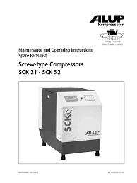 manual sck 21 52 gb gas compressor valve