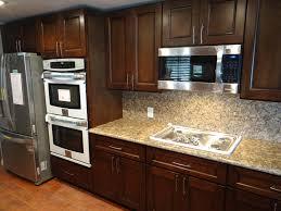 Kitchen  Best Wall Color For Kitchen With Dark Cherry Cabinets - Kitchen backsplash ideas dark cherry cabinets