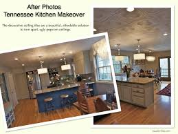 Before And After Kitchen Makeovers Decorative Ceiling Tiles Before And After Photos