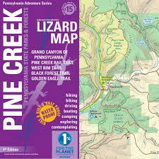 Map Of Pennsylvania And New Jersey by Pine Creek Lizard Map Grand Canyon Of Pa Trail Map Purple