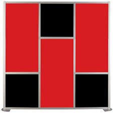 Room Dividers Contractors Wardrobe 75 5 8 In X 75 3 8 In Udivide Red And Black