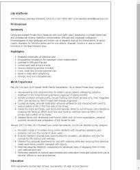 Resume For Nanny Job by Download Resume For Caregiver Haadyaooverbayresort Com