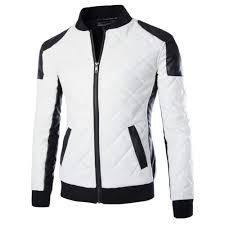 men s moto jacket mens motorcycle jackets collar stitching leather jacket coat