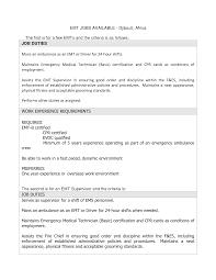 Resume Format Nursing Job by Smart Sample Emt Resume Large Size Emt Resumes Firefighter Resume