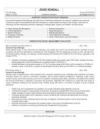 Construction Management Resume Examples by Resume Examples Program Manager