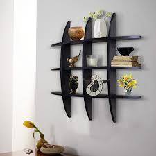 amazon com shelving solution cross display wall shelf black