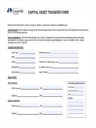 transfer agreement template 7 asset transfer form sample free sample example format download capital asset transfer