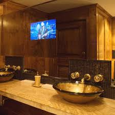 Bathroom Mirror With Lights Built In by Bathroom Mirrors With Built In Tvs