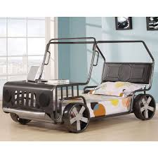 White Bedroom Furniture Jerome Acme Furniture Jeep Style Twin Youth Bed In Silver Local