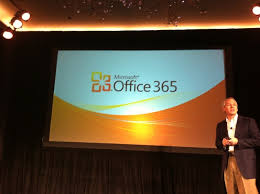the launch of Office 365,