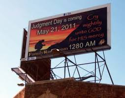 Judgment Day billboard in West