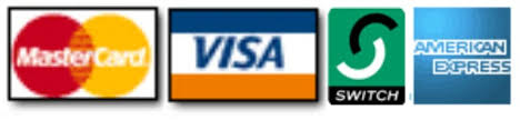 We accept payment on major credit and debit cards.