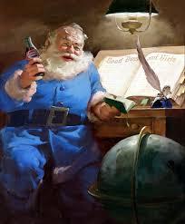 Papá Noel era azul