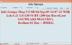 BMG,software deteksi,deteksi gempa