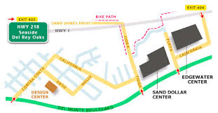Simple Map Of Sand City Shopping Center ~ Edgewater