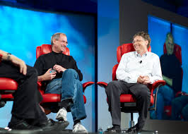 Steve Jobs and Bill Gates In