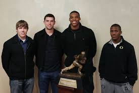 Heisman finalists, from left: