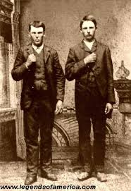 Frank and Jesse James as boys