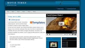 Movie Times Blogger template -