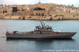 P61 Diciotti class Armed Forces of Malta Patrol Boat in the Grand Harbour
