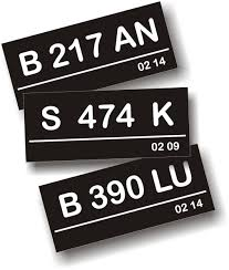 kode plat nomor kendaraan