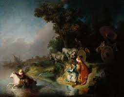 Rembrandt: THE ABDUCTION OF
