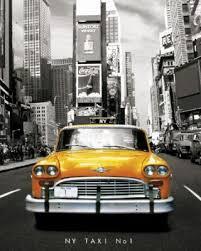 cuisine et salon theme new york Mini-Posters-New-York---Taxi-No-1-73479