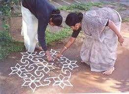 Kolam , the domestic art of Tamil woman