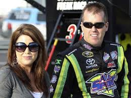 Jeremy Mayfield with his wife