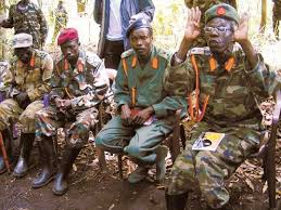 LRA rebel leader (2nd from