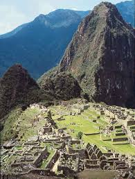 An Inca village.
