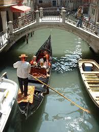 Gondoleros venecianos