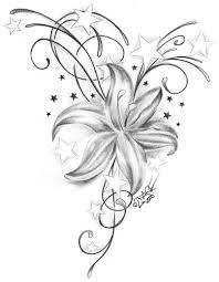 star and flower tattoo designs