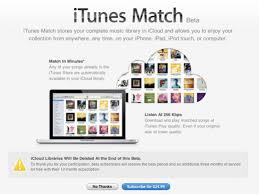 iTunes Match Info