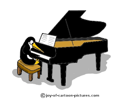 penguin playing piano...