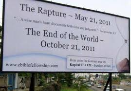 The Rapture is coming May 21,