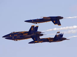 Blue Angels on our shoulders?