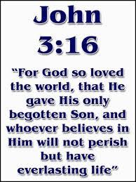 John 3:16. Sacrifice!