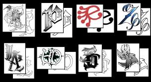 letter m tattoo designs