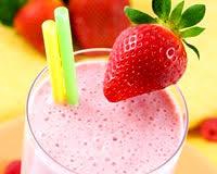 mmmmmmmmmmh les bons milkshakes aux fruits ...