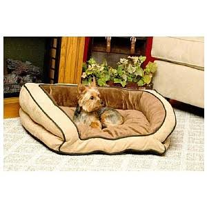 Kh Bolster Couch Dog Bed Mocha Tan 28