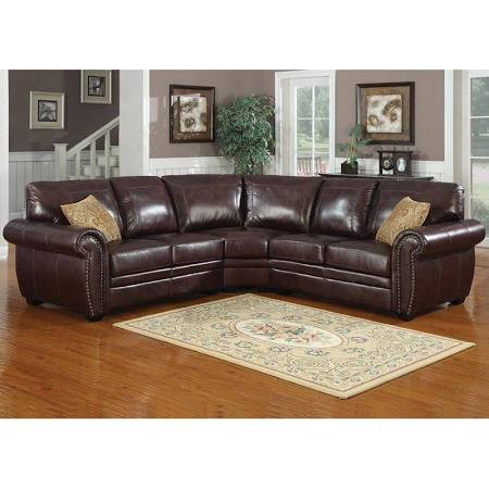 AC Pacific Louis Modern Dark Brown Sectional