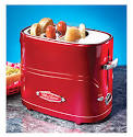 Nostalgia Electrics Red Pop-Up Hot Dog Toaster