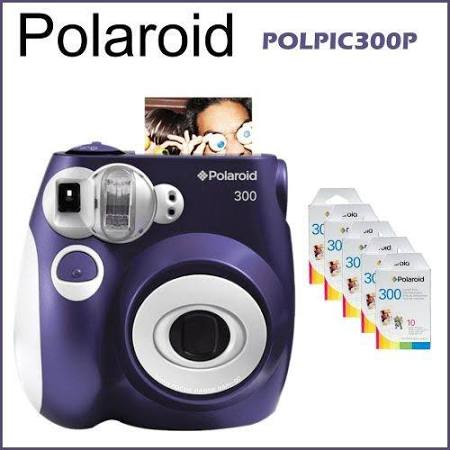 Polaroid 300 Instant Camera Bundle Purple