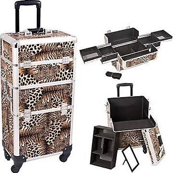 Leopard 4-Wheel Makeup Case - i3161