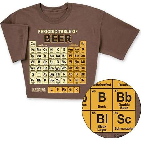 Periodic Table of Beers Funny T-shirt