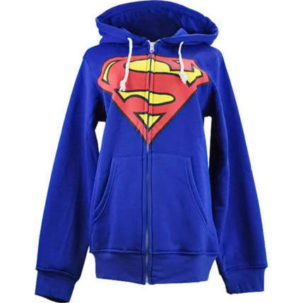 High Quality Blue Superman Sweater Hoodie
