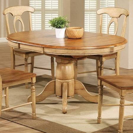 Quails Run Wood Dining Table Only in Almond